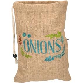 Hessian Onion Storage Bag
