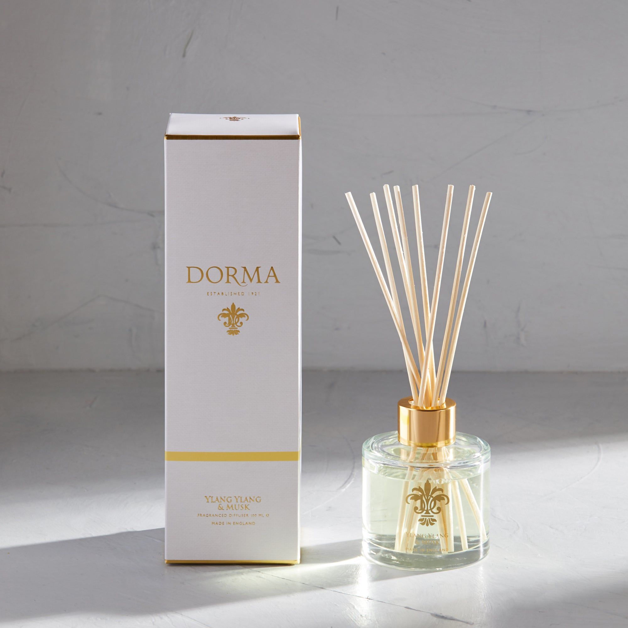 Click to view product details and reviews for Dorma Ylang And Musk 100ml Reed Diffuser White.