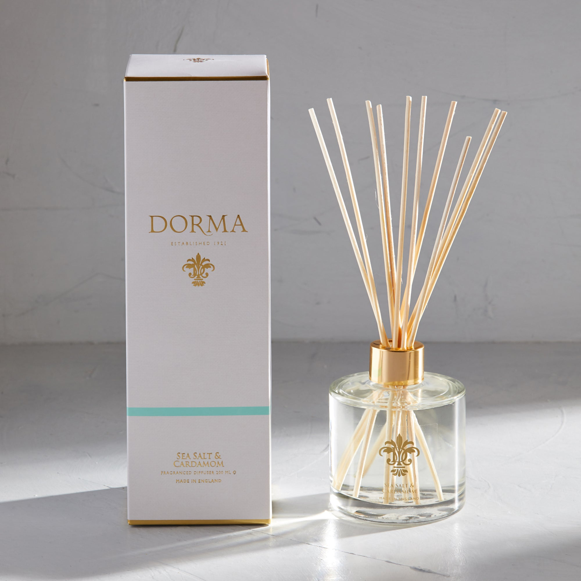 Click to view product details and reviews for Dorma Sea Salt And Cardamom 200ml Reed Diffuser White.
