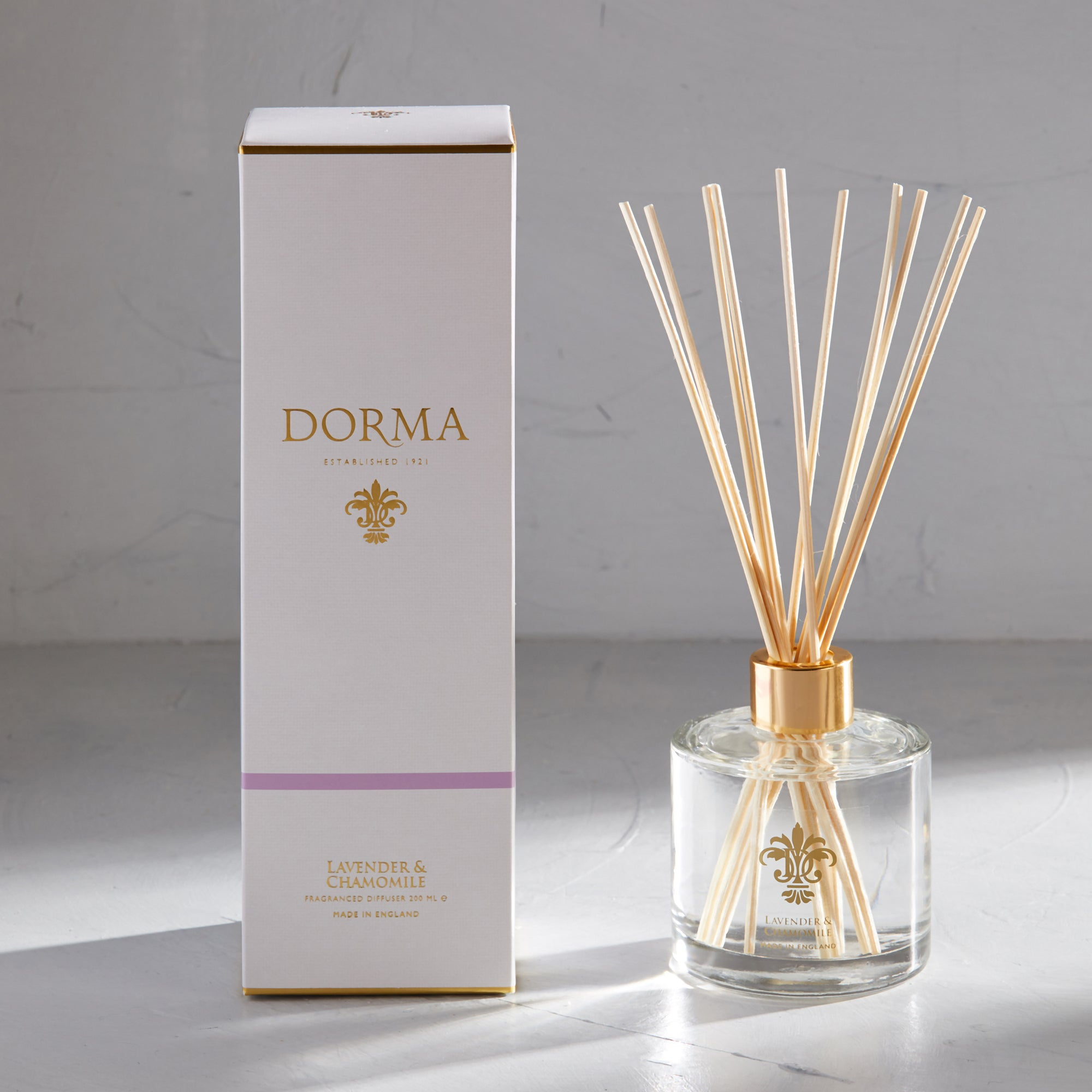 Click to view product details and reviews for Dorma Lavender And Camomile 200ml Reed Diffuser White.