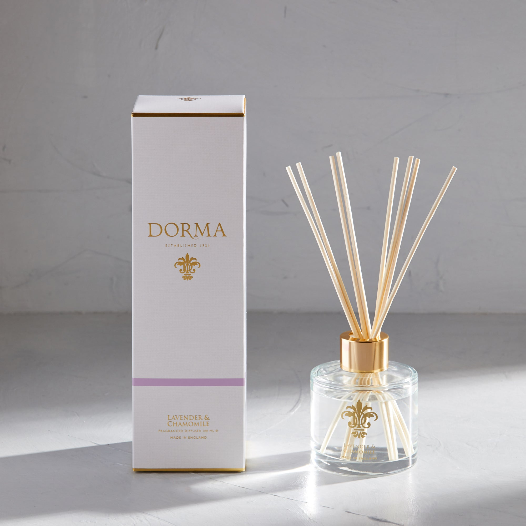 Click to view product details and reviews for Dorma Lavender And Camomile 100ml Reed Diffuser White.