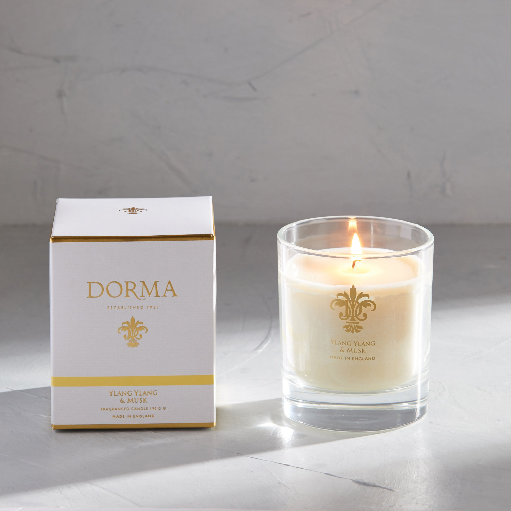 Click to view product details and reviews for Dorma Ylang And Musk Wax Fill Candle White.