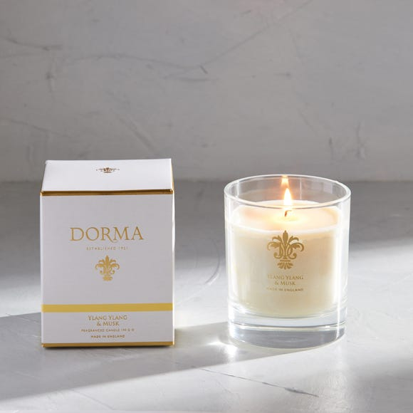 Dorma Ylang and Musk Wax Fill Candle White