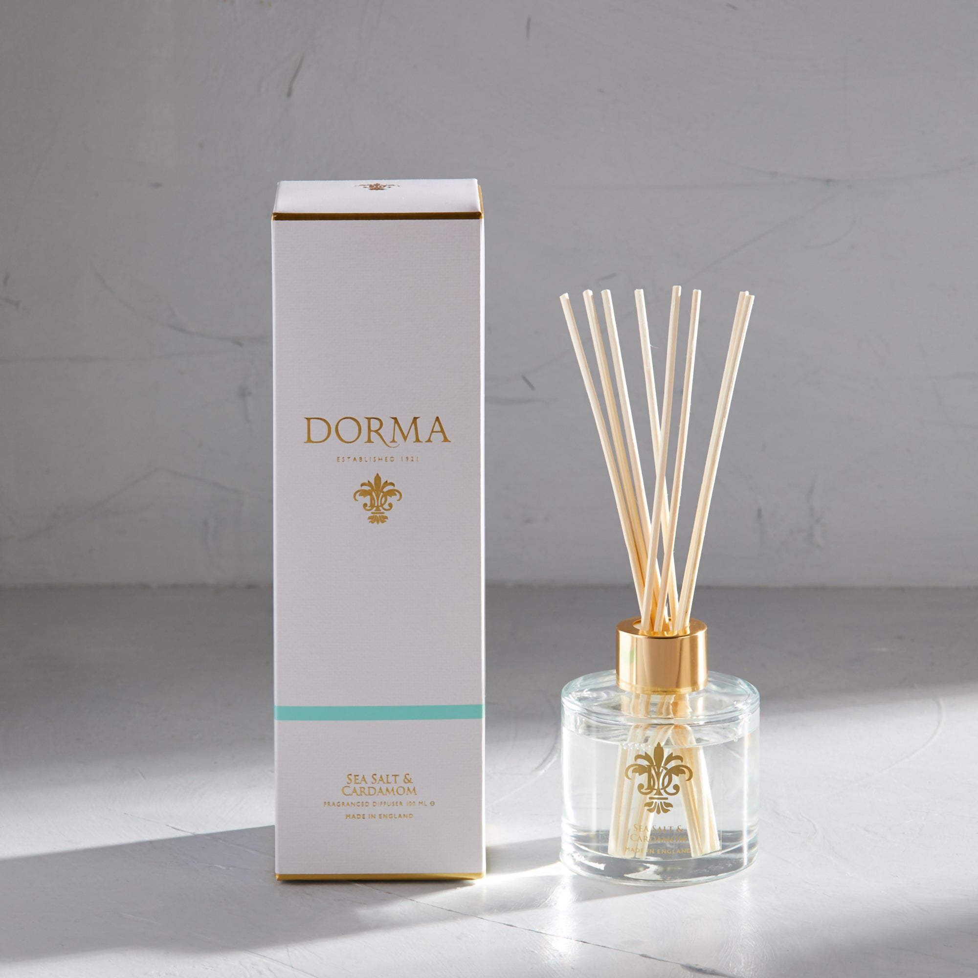 Dorma Sea Salt And Cardamom 100ml Reed Diffuser White