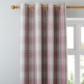 Fyfe Red Eyelet Curtains