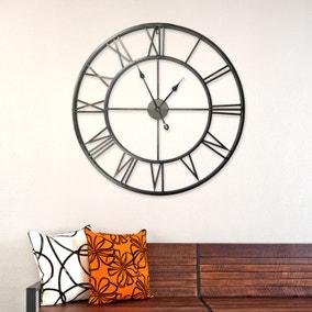 Walplus Quintus 100cm Wall Clock In Iron