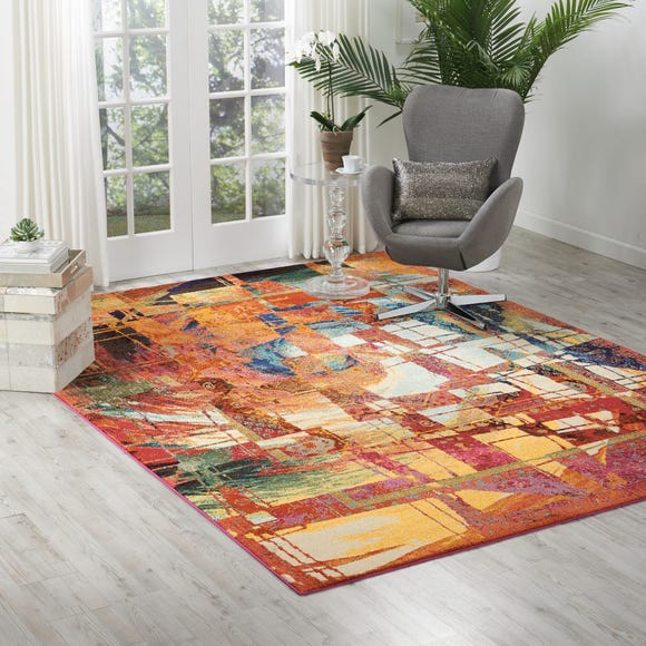 Celestial Stained Glass MultiColoured Rug  undefined