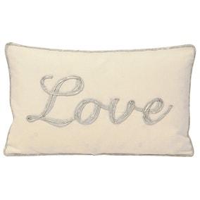 Christmastide Love Silver Cushion
