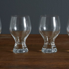 Set of 4 Chunky Clear Glasses