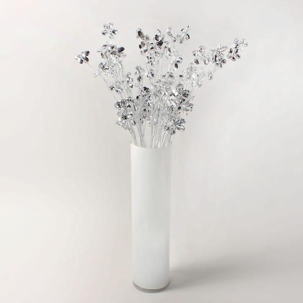 12pk Artificial Flower Clear Spray 66cm Clear