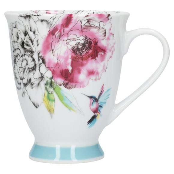 Heavenly Hummingbird Footed Mug Multi coloured