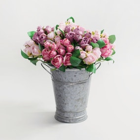 Pack of 24 Artificial Rose Pink Spray 32cm