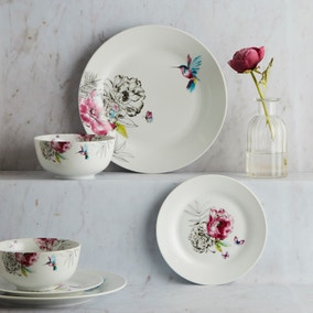Heavenly Hummingbird 12 Piece Dinner Set
