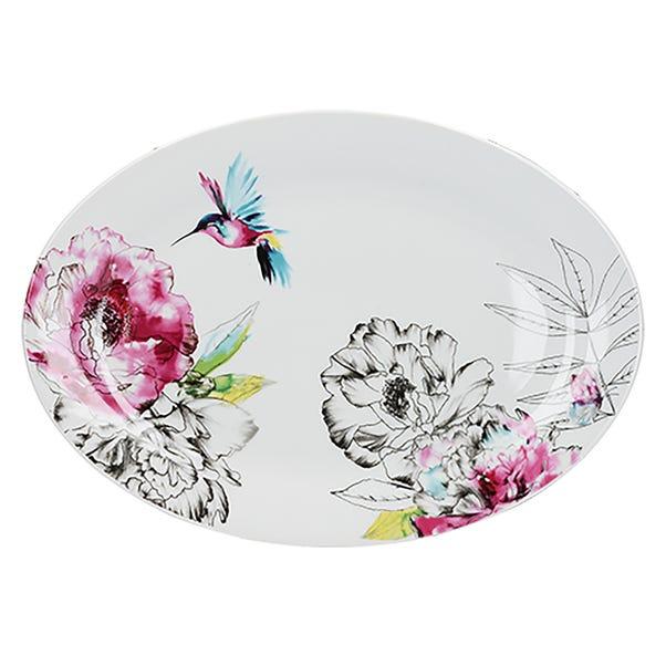 Heavenly Hummingbird Platter MultiColoured