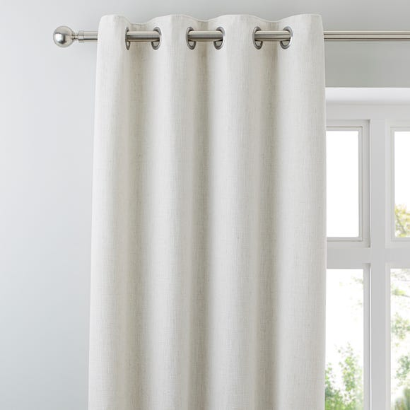 Purity Natural Eyelet Curtains Natural undefined