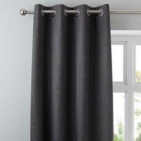 Solar Slate Blackout Eyelet Curtains