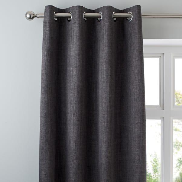 Solar Slate Blackout Eyelet Curtains  undefined