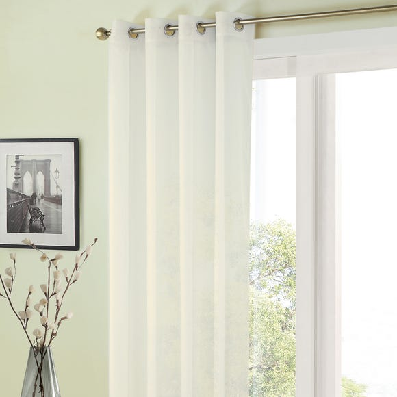 Sheer Elegance White Eyelet Single Voile Panel  undefined