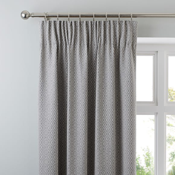 Oslo Grey Pencil Pleat Curtains  undefined