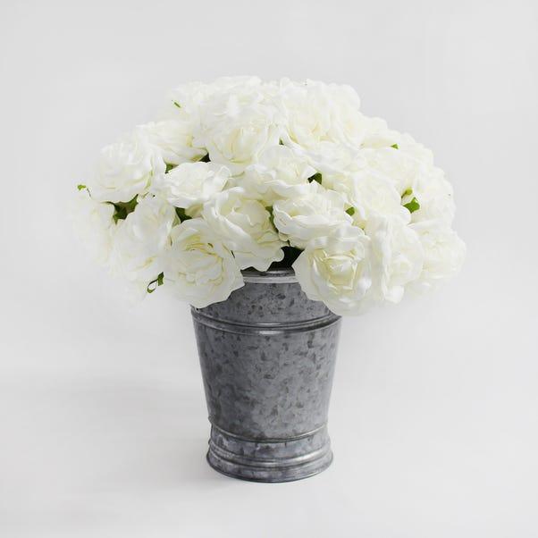 12pk Artificial Rose Cream Bouquet 30cm Cream