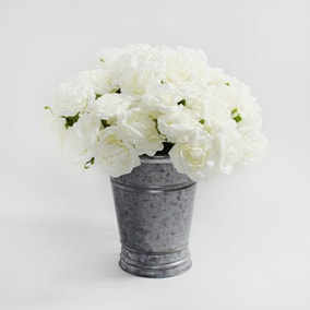 12pk Artificial Rose Cream Bouquet 30cm