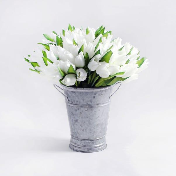Pack of 12 Artificial Tulip Cream Bouquet 29cm Orange