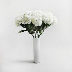 Pack of 24 Artificial Hydrangea White Glittter Stem 78cm