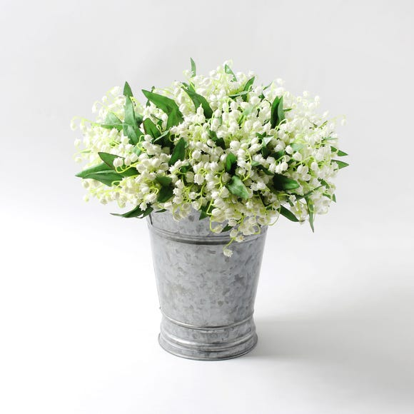 12pk Artificial Lily of the Valley White Bundle 28cm White