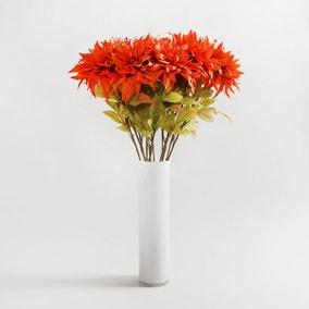 Pack of 12 Artificial Dahlia Orange Spray 80cm