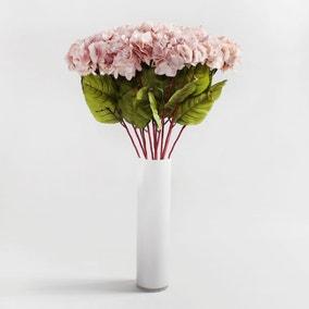 Pack of 12 Artificial Hydrangea Pink Stem 78cm