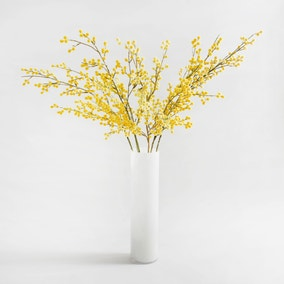 8pk Artificial Mimosa Yellow Spray 88cm