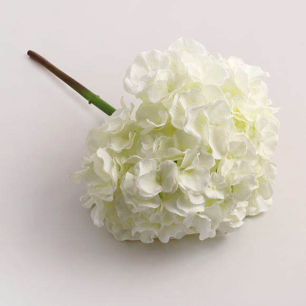 6pk Artificial Hydrangea Cream Stem 55cm Natural