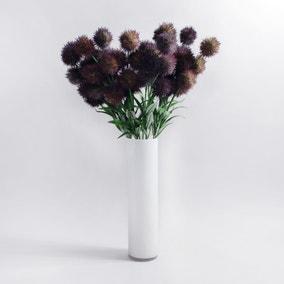 Pack of 12 Artificial Lavender Thistle Purple Stem 66cm