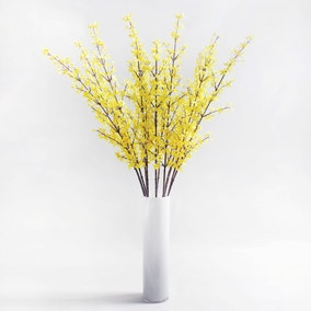 Pack of 12 Artificial Forsythia Yellow Spray 103cm