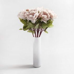 Pack of 12 Artificial Peony Pink Stem 73cm
