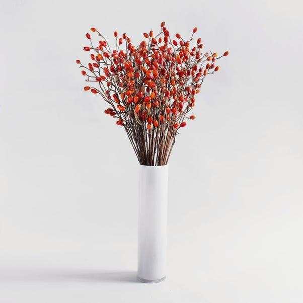 Pack of 24 Artificial Rose Hip Orange Spray 82cm Red