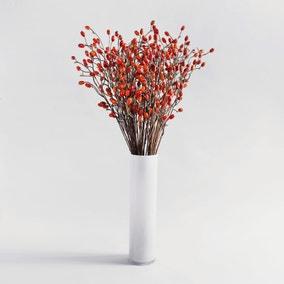 24pk Artificial Rose Hip Orange Spray 82cm