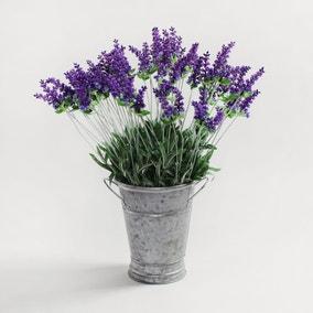 12pk Artificial Lavender Purple Stem 50cm