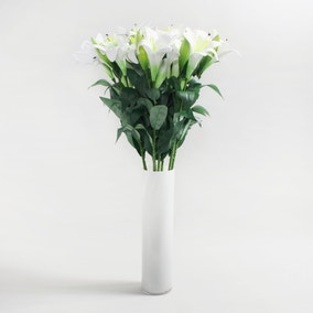 Pack of 12 White Easter Lily Spray