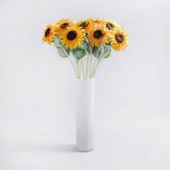 12pk Artificial Sunflower Yellow Stem 69cm Yellow
