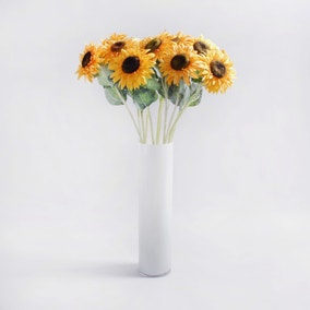 Pack of 12 Artificial Sunflower Yellow Stem 69cm