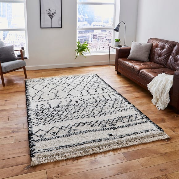 Black and White Boho 5402 Rug Black and White undefined