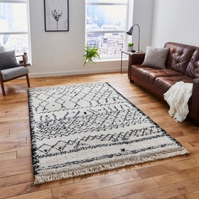 Black and White Boho 5402 Rug