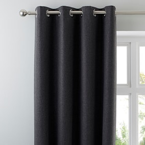Jennings Charcoal Thermal Eyelet Curtains