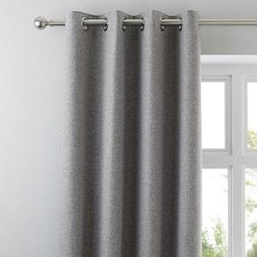 Jennings Grey Thermal Eyelet Curtains