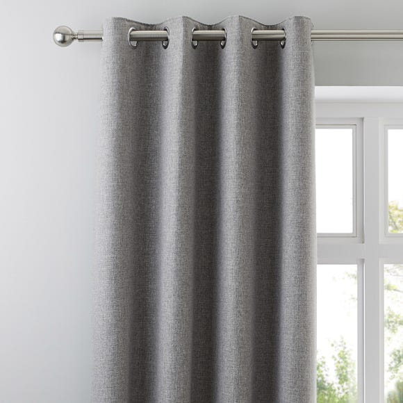 Jennings Grey Thermal Eyelet Curtains Grey undefined
