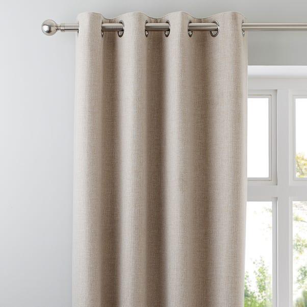 Jennings Natural Thermal Eyelet Curtains Natural undefined