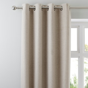 Jennings Natural Thermal Eyelet Curtains