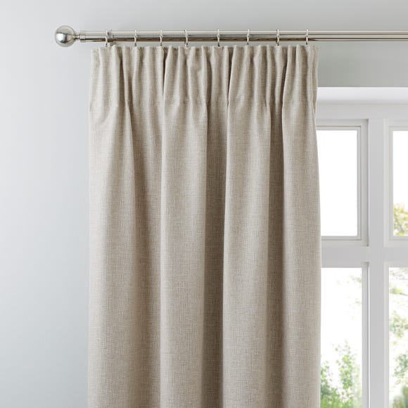 Jennings Natural Thermal Pencil Pleat Curtains  undefined