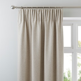 Jennings Natural Thermal Pencil Pleat Curtains
